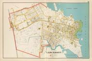 Larchmont Village, New York 1893 - Old Town Map Reprint - Westchester Co. Atlas