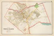 White Plains Village, New York 1893 - Old Town Map Reprint - Westchester Co. Atlas