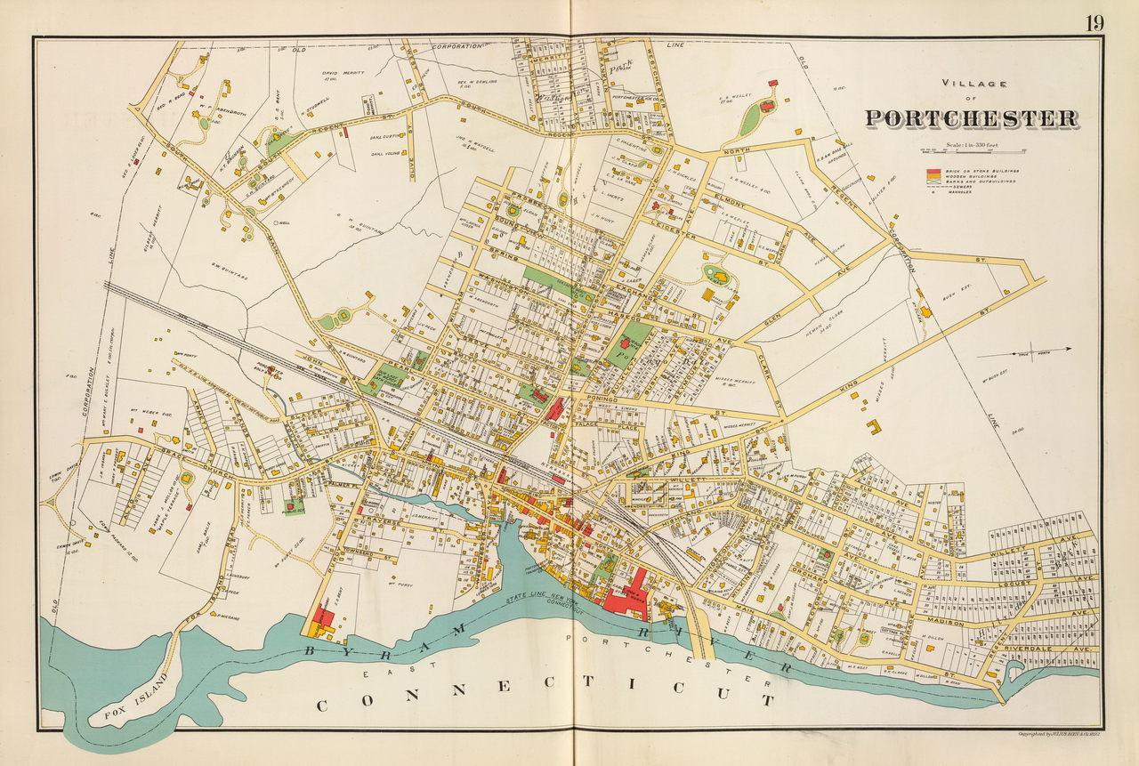 1890s New York City 16x24 Port of New York Birds Eye View Map