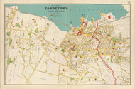 Tarrytown and North Tarrytown Villages, New York 1893 - Old Town Map Reprint - Westchester Co. Atlas