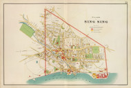 Sing Sing Village, New York 1893 - Old Town Map Reprint - Westchester Co. Atlas