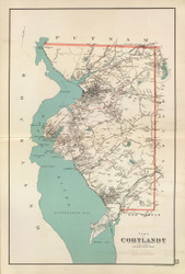 Cortlandt, New York 1893 - Old Town Map Reprint - Westchester Co. Atlas