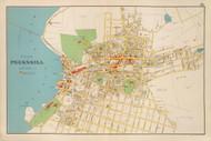 Peekskill Village, New York 1893 - Old Town Map Reprint - Westchester Co. Atlas