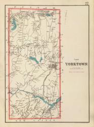 Yorktown, New York 1893 - Old Town Map Reprint - Westchester Co. Atlas