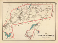 North Castle, New York 1893 - Old Town Map Reprint - Westchester Co. Atlas