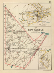 New Castle, New York 1893 - Old Town Map Reprint - Westchester Co. Atlas