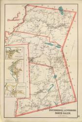 Poundridge, Lewisboro, and North Salem, New York 1893 - Old Town Map Reprint - Westchester Co. Atlas