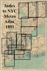 Index Map, 1891 - Old Map Reprint - NYC Metro Atlas