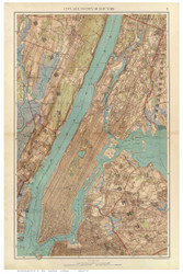 Manhattan and Vicinity, 1891 - Old Town Map Reprint - NYC Metro Atlas