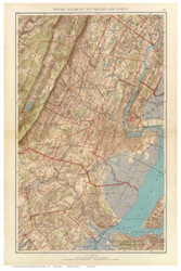 Newark NJ - Elizabeth - Oranges, 1891 - Old Town Map Reprint - NYC Metro Atlas