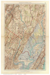 Newark NJ to Paterson Bay, 1891 - Old Town Map Reprint - NYC Metro Atlas