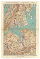 Westchester - Queens - LI Sound, 1891 - Old Town Map Reprint - NYC Metro Atlas