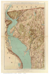 Westchester - Scarborough to Putnam, 1891 - Old Town Map Reprint - NYC Metro Atlas