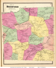 Bedford, New York 1868 - Old Town Map Reprint - Westchester Co. - NYC Vicinity Atlas