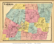 Carmel, New York 1868 - Old Town Map Reprint - Putnam Co. - NYC Vicinity Atlas