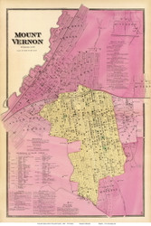 Mount Vernon Village - East Chester, New York 1868 - Old Town Map Reprint - Westchester Co. - NYC Vicinity Atlas
