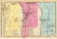 Hastings, Dobbs Ferry, and Irvington Villages - Greenburgh, New York 1868 - Old Town Map Reprint - Westchester Co. - NYC Vicinity Atlas