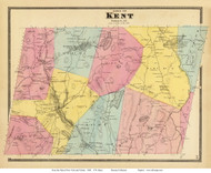 Kent, New York 1868 - Old Town Map Reprint - Putnam Co. - NYC Vicinity Atlas