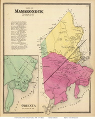 Mamaroneck Town and Orienta Village, New York 1868 - Old Town Map Reprint - Westchester Co. - NYC Vicinity Atlas