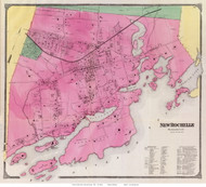 New Rochelle Village, New York 1868 - Old Town Map Reprint - Westchester Co. - NYC Vicinity Atlas