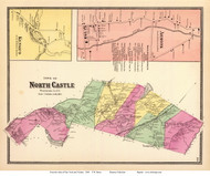 North Castle Town, Kensico and Armonk Villages, New York 1868 - Old Town Map Reprint - Westchester Co. - NYC Vicinity Atlas