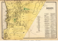 Singsing Village - Ossining, New York 1868 - Old Town Map Reprint - Westchester Co. - NYC Vicinity Atlas