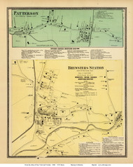Patterson and Brewsters Station Villages - Patterson, New York 1868 - Old Town Map Reprint - Putnam Co. - NYC Vicinity Atlas
