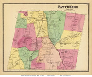 Patterson, New York 1868 - Old Town Map Reprint - Putnam Co. - NYC Vicinity Atlas