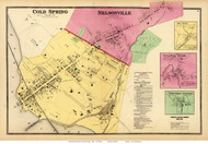 Cold Spring, Nelsonville, Mill Town, South East Centre and Towners Station Villages - Phillipston, New York 1868 - Old Town Map Reprint - Westchester Co. - NYC Vicinity Atlas