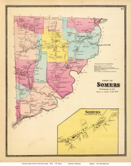Somers Town and Village, New York 1868 - Old Town Map Reprint - Westchester Co. - NYC Vicinity Atlas