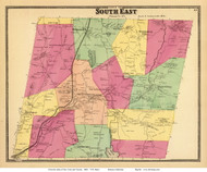 South East, New York 1868 - Old Town Map Reprint - Putnam Co. - NYC Vicinity Atlas