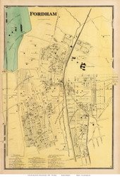 Fordham Village - West Farms, New York 1868 - Old Town Map Reprint - Westchester Co. - NYC Vicinity Atlas