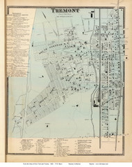Tremont Village - West Farms, New York 1868 - Old Town Map Reprint - Westchester Co. - NYC Vicinity Atlas
