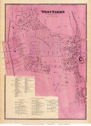 West Farms Village, New York 1868 - Old Town Map Reprint - Westchester Co. - NYC Vicinity Atlas