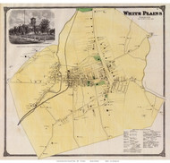White Plains, New York 1868 - Old Town Map Reprint - Westchester Co. - NYC Vicinity Atlas