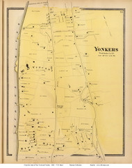 Mt. St. Vincent - Yonkers, New York 1868 - Old Town Map Reprint - Westchester Co. - NYC Vicinity Atlas
