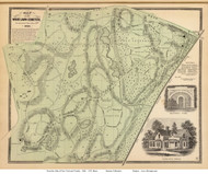 Woodlawn Cemetery - Yonkers, New York 1868 - Old Town Map Reprint - Westchester Co. - NYC Vicinity Atlas