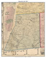 Rensselaerville, New York 1854 Old Town Map Custom Print - Albany Co.
