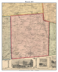 Westerlo, New York 1854 Old Town Map Custom Print - Albany Co.