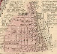 Plan of Albany, New York 1854 Old Town Map Custom Print - Albany Co.