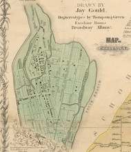 Cohoes Village, New York 1854 Old Town Map Custom Print - Albany Co.