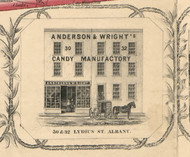 Anderson & Wright's, New York 1854 Old Town Map Custom Print - Albany Co.