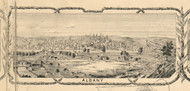 Albany Village Picture, New York 1854 Old Town Map Custom Print - Albany Co.