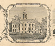Albany Academy, New York 1854 Old Town Map Custom Print - Albany Co.