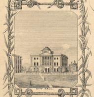City Hall, New York 1854 Old Town Map Custom Print - Albany Co.