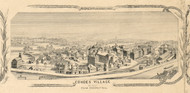 Cohoes Village Picture, New York 1854 Old Town Map Custom Print - Albany Co.
