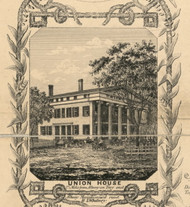 Union House, New York 1854 Old Town Map Custom Print - Albany Co.