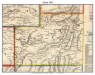 Alfred, New York 1856 Old Town Map Custom Print - Allegany Co.