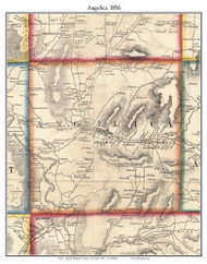 Angelica, New York 1856 Old Town Map Custom Print - Allegany Co.