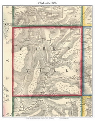 Clarksville, New York 1856 Old Town Map Custom Print - Allegany Co.